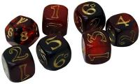 The One Ring Dice Set (Red & Black)