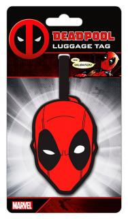 Deadpool Head Luggage Tag