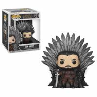 Jon Snow Sitting on Iron Throne Deluxe Pop! Vinyl Figure