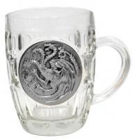 Beer Glass Targaryen Metallic Logo