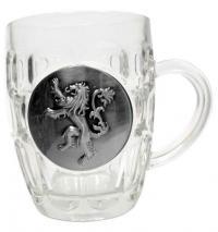 Beer Glass Lannister Metallic Logo