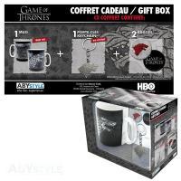 Game of Thrones Stark Gift Box: Mug, Keychain & Badges