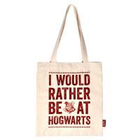 Harry Potter I Would Rather Be At Hogwarts Tote Bag Black