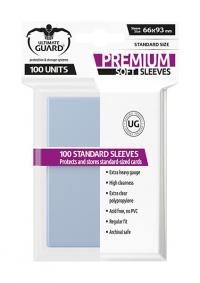 Premium Soft Sleeves Standard Size Transparent (100)