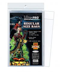 Comic Bags Resealable Regular Size 7-1/8in x 10-3/8in