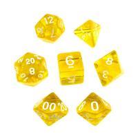 Translucent Yellow/White (set of 7 dice)