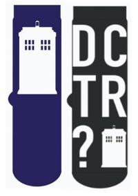 Tardis Blue & Black Socks 2-Pack