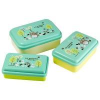 Totoro lunchbox blue lid, 3-pack