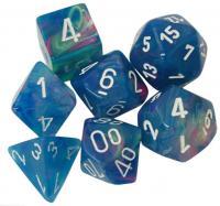 Festive Waterlily/White (set of 7 dice)