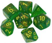 Borealis Maple Green/Yellow (set of 7 dice)