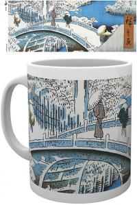 The Drum Bridge by Utagawa Hiroshige Mug