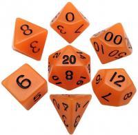 Mini Dice Glow Orange with Black Numbers