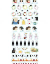 Spirited Away stickers for schedule diary 2020