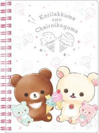 Rilakkuma Notebook: Happy Ice Cream (White)