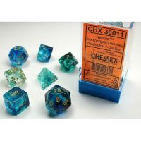 Nebula Oceanic/Gold Luminary (set of 7 dice)