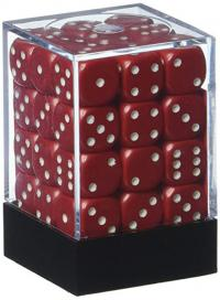 Opaque Red with White Dice Block (36 d6)