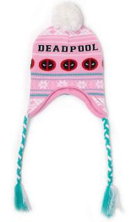 Deadpool Ski Beanie Pink Xmas Laplander