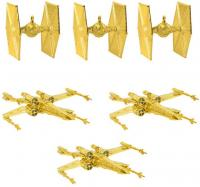 Gold Tree Ornaments Pack TIE Fighters & X-wings