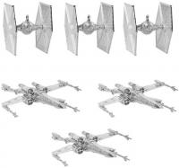Silver Tree Ornaments Pack TIE Fighters & X-wings