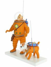 Samlarfigur - Tintin & Milou - Månen tur och retur