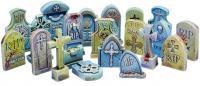 20x Gravestones Plastic Set