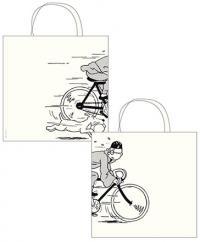 kasse, Tintin på cykel tygkasse