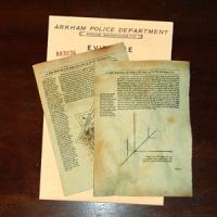 Necronomicon Replica Pages Arkham Police Evidence