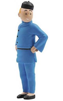 Liten figur - Tintin blå lotus