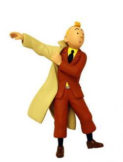 Liten figur - Tintin med trenchcoat