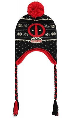 Deadpool Ski Beanie Badge Laplander