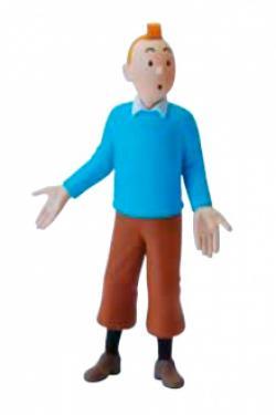 Liten figur - Tintin med blå tröja