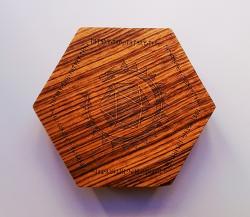 Dice Box Lindorm Logo Zebrawood