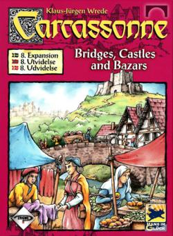 Carcassonne expansion 8 - Bridges, Castles & Bazars (svensk)