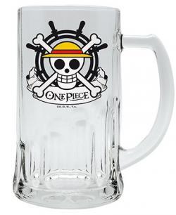 One Piece Luffy Skull Glass Tankard