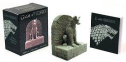 Game of Thrones Stark Direwolf Statue & Book Kit