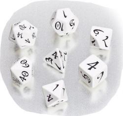 Classic RPG: White Dice Set