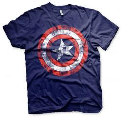 Captain America Distressed Shield Navy