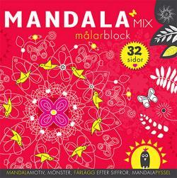 Mandalamix: målarblock (röd)