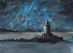 Mythos Postcard: Innsmouth Light