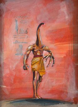 Mythos Postcard: Nyarlathotep