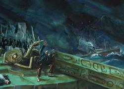 Mythos Postcard: Ashore on R'lyeh