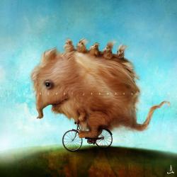 Vykort - Monster daddy's new bike