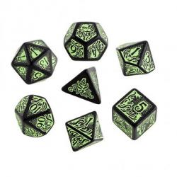 Call of Cthulhu Black/Green Dice Set