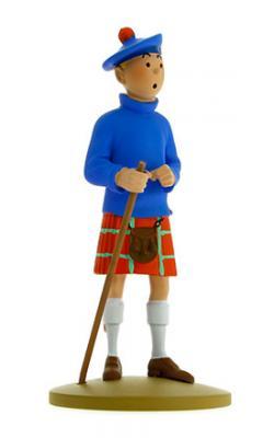 Figur 12 cm resin Tintin med kilt