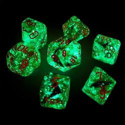 Nebula Copper Matrix/Orange (set of 7 dice)
