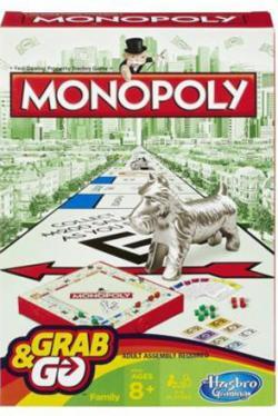 Monopoly Grab & Go (svensk utgåva)