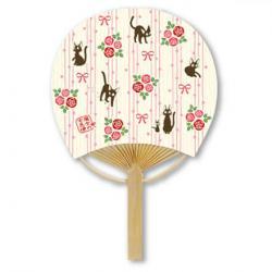 Kiki's Delivery Service Jiji's Rose Garden Bamboo Fan