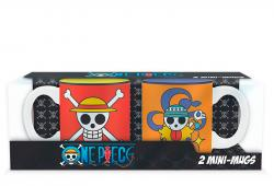 One Piece Luffy & Nami Emblems Mini-Mug Set