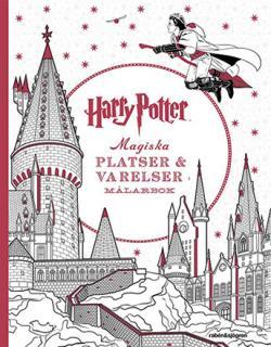 Harry Potter Magiska platser och varelser-målarbok
