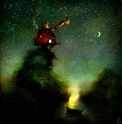Vykort - The Astronomer